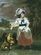 Feeding Time (Large) (Restrike Etching) by Sir Joshua Reynolds