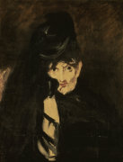 Berthe Morisot in mourning dress by Edouard Manet