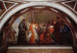 Leonardo da Vinci with Luca Pacioli and Ludovico Sforza by Nicola Cinfanelli