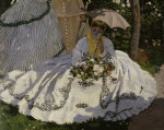 Women in the garden (detail) by Claude Monet
