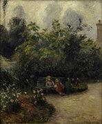 Les Mathurins' Garden by Camille Pissarro