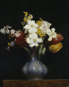 Daffodils and Tulips by Ignace-Henri-Théodore Fantin-Latour
