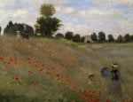 Poppy field at Argenteuil by Claude Monet