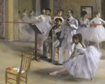 Ballet room at the opera in Rue Le Peletier (detail I)