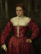 Portrait of a woman from the Fugger Family by Paris Bordon