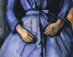 Woman with coffee pot (detail of woman) by Paul Cezanne