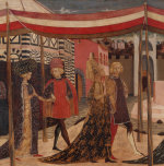 Wedding of Boccaccio and Lisa Ricasoli by Master of Cassone Adimari