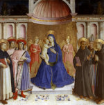 Madonna enthroned with six saints and angels