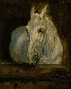 The White horse 'Gazelle' by Henri de Toulouse-Lautrec