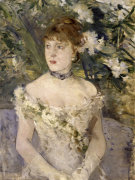 Young lady wearing a ballgown
