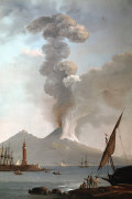 Vesuvius errupting during the day by Anonymous