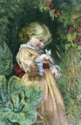 Bees & Butterflies (Restrike Etching) by Frederick Morgan