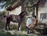 Country Butcher, The (Restrike Etching) by George Morland