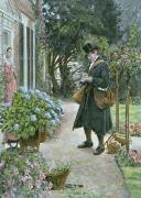 The Postman (Restrike Etching) by Walter Dendy Sadler