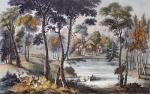 Cottage Dejuner (Restrike Etching) by F. Calvert