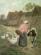 Morning Greeting (Restrike Etching) by George Hillyard Swinstead