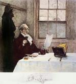 Glass of Port (Restrike Etching) by Walter Dendy Sadler