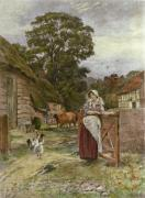 Back to the Fold (Restrike Etching) by John Henry Yeend King