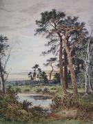 Amongst the Surrey Pine Trees (Restrike Etching) by Benjamin Williams Leader