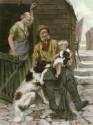 Pets (Grandpas) (Restrike Etching) by George Hillyard Swinstead