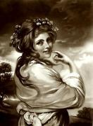 Lady Hamilton as Bacchante (Restrike Etching) by Sir Joshua Reynolds