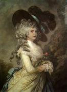 Duchess of Devonshire (Restrike Etching) by Thomas Gainsborough