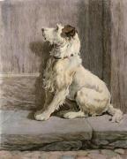 Prodigal (Dog) (Restrike Etching) by Herbert Thomas Dicksee