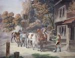 Horses Going To Fair (Restrike Etching) by Samuel J. E. Jones