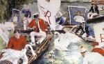 Swan Upping, Royal (Restrike Etching) by Terence Gilbert