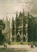 Westminster, North Porch (Restrike Etching) by Axel Haig