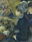 At The Theatre, 1877 by Pierre Auguste Renoir