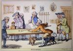 Billiards (Restrike Etching) by Bunbury