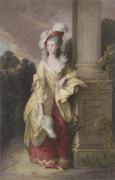 Mrs Graham (Restrike Etching) by Thomas Gainsborough