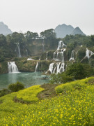 Detian Waterfall by lake, Guangxi Province, South China by Assaf Frank