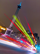 Bus Lights, Trafalgar Square, London by Assaf Frank