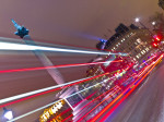 Trafalgar Square London Bus Strip Lights by Assaf Frank
