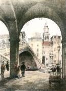 Rialto Bridge (Restrike Etching) by A.C. Fare