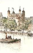 Tower of London (Restrike Etching) by Anonymous