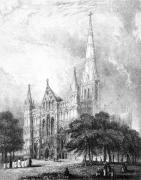 Salisbury Cathedral (Restrike Etching) by Anonymous