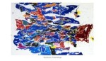 Round the World - Action Painting, 1958-1959 by Sam Francis