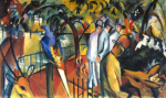 The Zoo by August Macke
