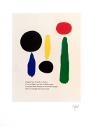 Illustrated Poems-'Parler Seul' XI by Joan Miro
