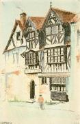Tudor House (Restrike Etching) by E..J. Maybery
