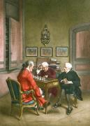 Chess Players (Restrike Etching) by Jean-Louis Ernest Meissonier
