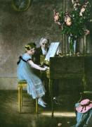 Music Lesson, The (Restrike Etching) by Anonymous