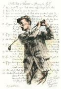 Golf Rules - Harry Vardon (Restrike Etching) by Terence Gilbert