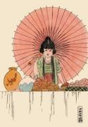 Oriental - Child & Umbrella (Restrike Etching)