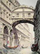 Bridge of Sighs (Restrike Etching) by Graham Clilverd