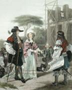 Charles II & Nell Gwynne (Restrike Etching) by Ward