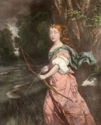 Princess Mary as Diane (Restrike Etching) by Anonymous